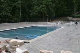 Custom Pool Deck and Walls