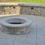 Stamped Concrete Patio and Firepit